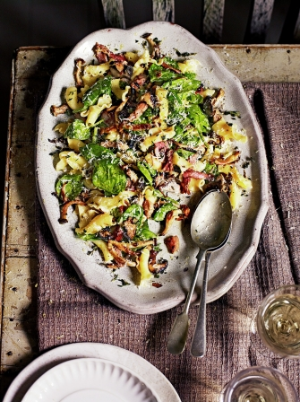 Warming wintery pasta salad
