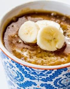 Banana mug cake