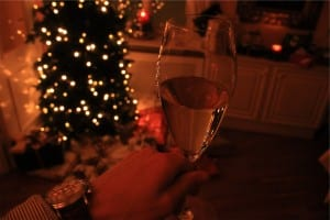 Champagne Christmas celebration