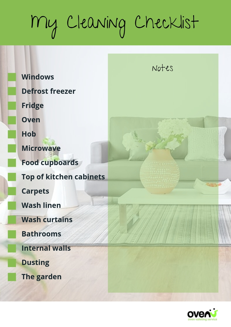 My cleaning checklist