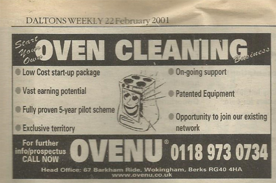 Daltons Oven-Cleaning Advert 2001