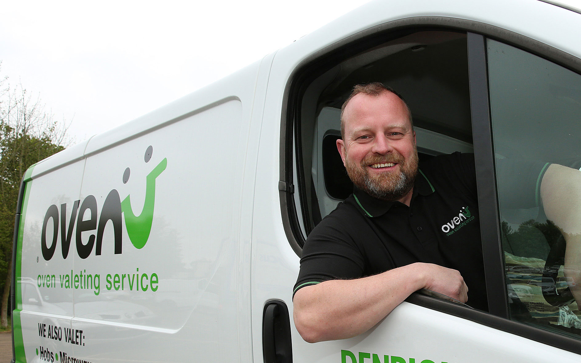 Phil Davidson in his Ovenu van