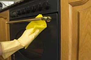 Cleaning an Oven